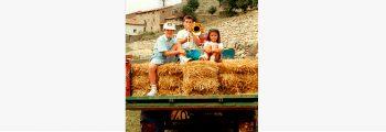 Orgulloso de tocar el trombón ¡de varas! En Cedrillas (Teruel)